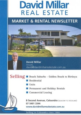 David Millar Real Estate Newsletter